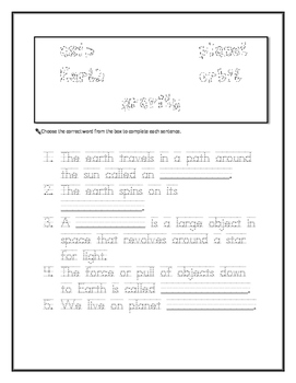 CKLA First Grade Domain 6 Astronomy