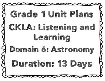 CKLA First Grade Domain 6 Unit Plans
