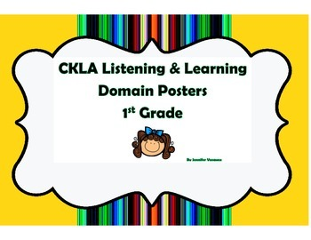 CKLA First Grade Listening and Learning Domain Posters