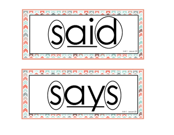 CKLA First Grade Tricky Words Core Knowledge