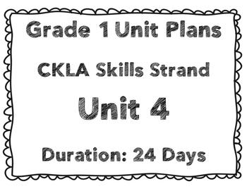 CKLA First Grade Unit 4 Plans