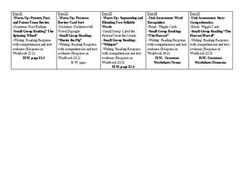 CKLA First Grade Unit 6 Plans
