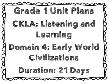 CKLA First Grade Unit Plans Domains 4-6