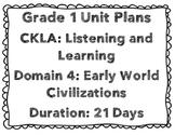 CKLA First Grade Unit Plans Domains 4-6