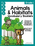 CKLA Grade 1 Animals and Habitats Vocabulary Booklet