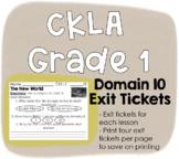 CKLA Grade 1 Domain 10 Exit Tickets