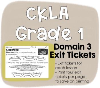 CKLA Grade 1 Domain 3 Exit Tickets
