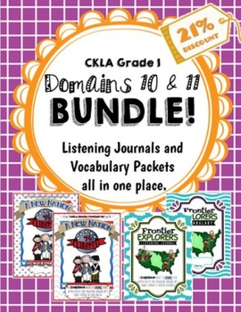 CKLA Grade 1 Domains 10-11 BUNDLE