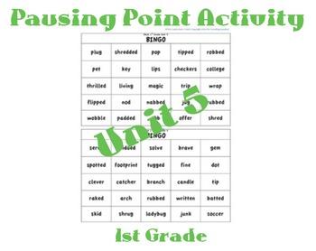 CKLA 1st Grade Unit 5 Bingo