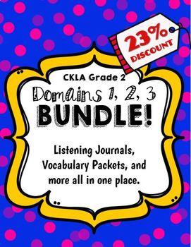 CKLA Grade 2 Domain 1, 2, 3 BUNDLE