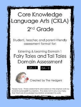 CKLA Grade 2 Domain 1- Fairy Tales and Tall Tales Domain Assessments