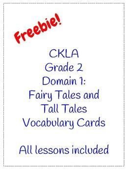CKLA. Grade 2. Domain 1 Vocab Cards w/ definitions