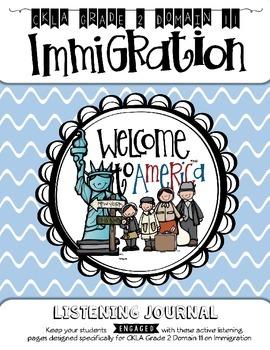 CKLA Grade 2 Domain 11 Immigration Listening Journal