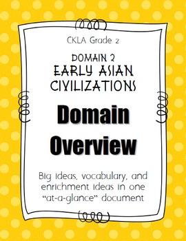 CKLA Grade 2 Domain 2 Early Asian Civilization- DOMAIN OVERVIEW