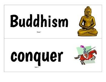 CKLA Grade 2 Domain 2 Early Asian Civilization Vocabulary Pack