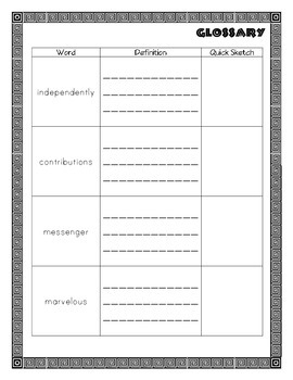 CKLA Grade 2 Domain 3 Ancient Greek Civilization Vocabulary Pack
