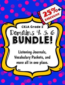 CKLA Grade 2 Domain 4, 5, 6 BUNDLE!