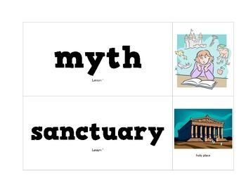 CKLA Grade 2 Domain 4 Greek Myths Vocabulary Pack