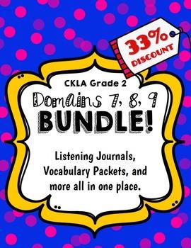 CKLA Grade 2 Domain 7, 8, 9 Bundle