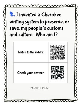 CKLA Grade 2 Domain 7 Westward Expansion Riddles Around the Room QR Codes