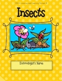 CKLA Grade 2 Domain 8 Insects- Active Listening Journal