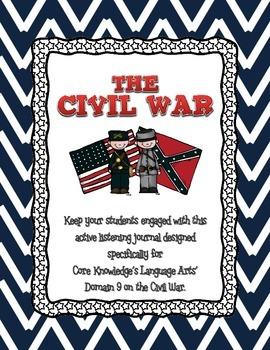 CKLA Grade 2 Domain 9 Civil War Listening Journal