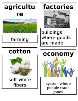 CKLA Grade 2: Domain 9: The U.S. Civil War Common Core Vocabulary Image Cards