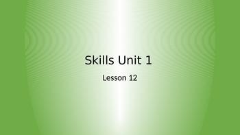 CKLA Grade 2 Skills Unit 1 Lesson 12 PowerPoint