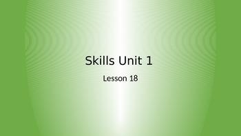 CKLA Grade 2 Skills Unit 1 Lesson 18 PowerPoint