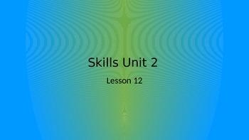 CKLA Grade 2 Skills Unit 2 Lesson 12 PowerPoint