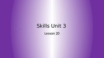 CKLA Grade 2 Skills Unit 3 Lesson 20 PowerPoint