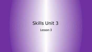 CKLA Grade 2 Skills Unit 3 Lesson 3 PowerPoint
