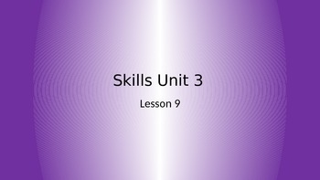 CKLA Grade 2 Skills Unit 3 Lesson 9 PowerPoint