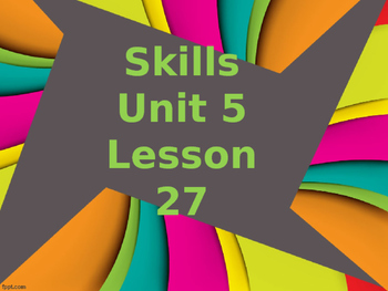 CKLA Grade 2 Skills Unit 5 Lesson 27 PowerPoint