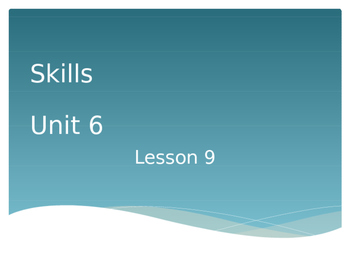 CKLA Grade 2 Skills Unit 6 Lesson 9 PowerPoint