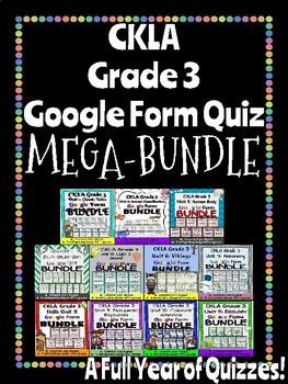 CKLA Grade 3 Google Form MEGA BUNDLE