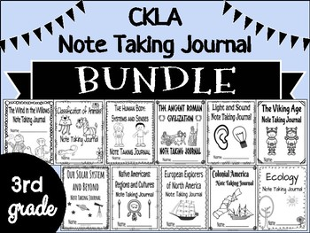 CKLA Grade 3 Note Taking BUNDLE