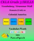 CKLA Grade 3 SKILLS Vocabulary Grammar Wall Unit 10 Coloni