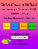CKLA Grade 3 SKILLS Vocabulary Grammar Wall Unit 4 Ancient