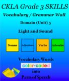 CKLA Grade 3 SKILLS Vocabulary Grammar Wall Unit 5 Light a