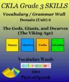 CKLA Grade 3 SKILLS Vocabulary Grammar Wall Unit 6 The Viking Age