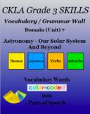 CKLA Grade 3 SKILLS Vocabulary Grammar Wall Unit 7 Astrono