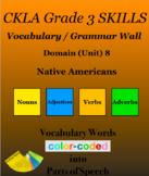 CKLA Grade 3 SKILLS Vocabulary Grammar Wall Unit 8 Native