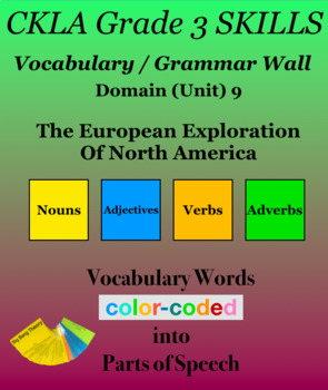 CKLA Grade 3 SKILLS Vocabulary Wall Unit 9 European Exploration of North America