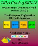 CKLA Grade 3 SKILLS Vocabulary Wall Unit 9 European Explor