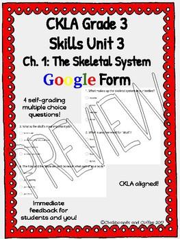 CKLA Grade 3 Skills Unit 3 Human Body Google Form Quiz BUNDLE