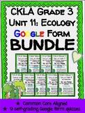 CKLA Grade 3 Skills Unit 11 Ecology Google Form Quiz BUNDLE