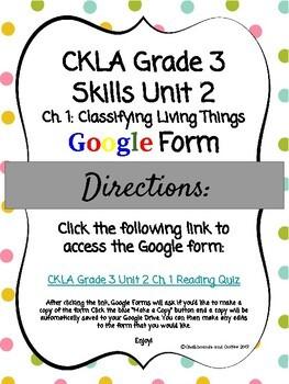 CKLA Grade 3 Skills Unit 2 Ch. 1 Google Form