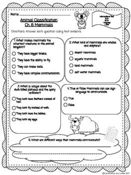 CKLA Grade 3 Skills Unit 2 Ch. 8 Reading Quiz