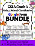 CKLA Grade 3 Skills Unit 2 Google Form Reading Quiz BUNDLE